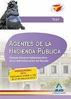AGENTES DE LA  HACIENDA PÚBLICA. CUERPO  GENERAL ADMINISTRATIVO DE LA ADMINISTRACIÓN DEL  ESTADO. TEST