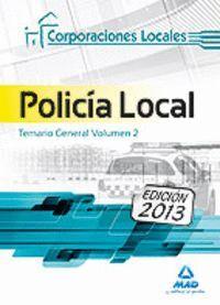 POLICÍA LOCAL. TEMARIO GENERAL VOLUMEN II