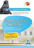 CUERPO TÉCNICO DE HACIENDA.AGENCIA ESTATAL DE ADMINISTRACIÓN TRIBUTARIA TEMARIO VOLUMEN II. DERECHO FINANCIERO Y TRIBUTARIO ESPAÑOL
