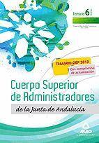 CUERPO SUPERIOR DE ADMINISTRADORES [ESPECIALIDAD GESTIÓN FINANCIERA (A1 1200)] DE LA JUNTA DE ANDALUCÍA. TEMARIO. VOLUMEN VI