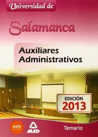 AUXILIARES ADMINISTRATIVOS DE LA UNIVERSIDAD DE SALAMANCA. TEMARIO