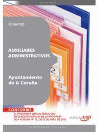 AUXILIARES ADMINISTRATIVOS DEL AYUNTAMIENTO DE A CORUÑA. TEMARIO
