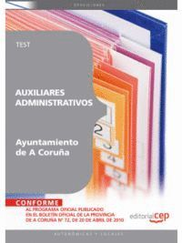 AUXILIARES ADMINISTRATIVOS DEL AYUNTAMIENTO DE A CORUÑA. TEST