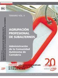 AGRUPACIÓN PROFESIONAL DE SUBALTERNOS  DE LA ADMINISTRACIÓN DE LA COMUNIDAD AUTÓNOMA DE CANTABRIA. T