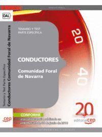 CONDUCTORES DE LA COMUNIDAD FORAL DE NAVARRA. TEMARIO Y TEST PARTE ESPECFICA