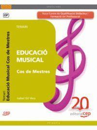 COS DE MESTRES. EDUCACIÓ MUSICAL. TEMARI