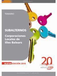 SUBALTERNOS CORPORACIONES LOCALES DE ILLES BALEARS. TEMARIO