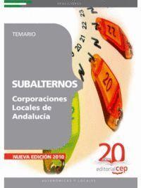 SUBALTERNOS DE CORPORACIONES LOCALES DE ANDALUCÍA. TEMARIO