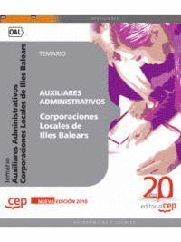AUXILIARES ADMINISTRATIVOS CORPORACIONES LOCALES ILLES BALEARS. TEMARIO