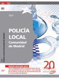 POLICÍA LOCAL COMUNIDAD DE MADRID. TEST