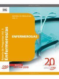 ENFERMEROS/AS. BATERA DE PREGUNTAS VOL. II.