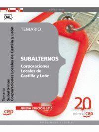 SUBALTERNOS DE CORPORACIONES LOCALES DE CASTILLA Y LEÓN. TEMARIO