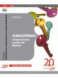 SUBALTERNOS CORPORACIONES LOCALES DE MADRID. TEMARIO