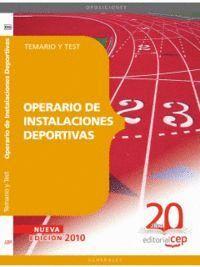 OPERARIO DE INSTALACIONES DEPORTIVAS. TEMARIO Y TEST