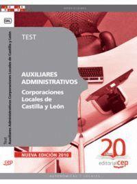 AUXILIARES ADMINISTRATIVOS CORPORACIONES LOCALES DE CASTILLA Y LEÓN. TEST