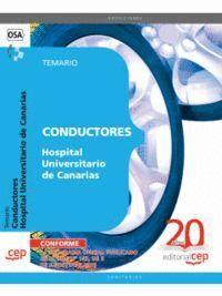CONDUCTORES HOSPITAL UNIVERSITARIO DE CANARIAS. TEMARIO