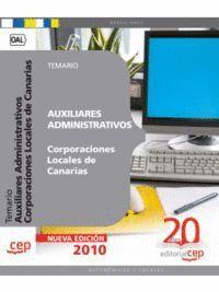 AUXILIARES ADMINISTRATIVOS CORPORACIONES LOCALES DE CANARIAS. TEMARIO