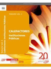 CALEFACTORES INSTITUCIONES PÚBLICAS. TEMARIO VOL. II.