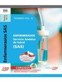 ENFERMERAS/OS. SERVICIO ANDALUZ DE SALUD (SAS). TEMARIO VOL. IV.