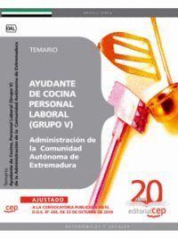 AYUDANTE DE COCINA, PERSONAL LABORAL (GRUPO V) DE LA ADMINISTRACIÓN DE LA  COMUNIDAD AUTÓNOMA DE EXT