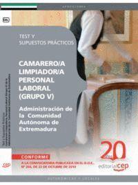 CAMAREROS/AS LIMPIADOR/AS, PERSONAL LABORAL (GRUPO V) DE LA ADMINISTRACIÓN DE LA  COMUNIDAD AUTÓNOMA