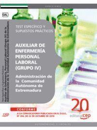 AUXILIAR DE ENFERMERA (GRUPO IV) PERSONAL LABORAL DE LA ADMINISTRACIÓN DE LA COMUNIDAD AUTÓNOMA DE