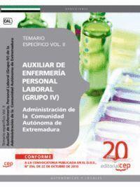 AUXILIAR DE ENFERMERA PERSONAL LABORAL (GRUPO IV) DE LA ADMINISTRACIÓN DE LA COMUNIDAD AUTÓNOMA DE