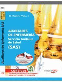 AUXILIARES DE ENFERMERA SERVICIO ANDALUZ DE SALUD SAS. TEMARIO VOL. II.