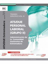 ATS/DUE (GRUPO II) PERSONAL LABORAL DE LA ADMINISTRACIÓN DE LA COMUNIDAD AUTÓNOMA DE EXTREMADURA. TE