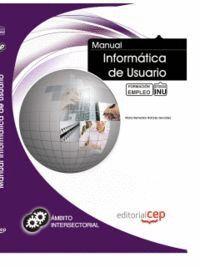MANUAL INFORMÁTICA DE USUARIO. FORMACIÓN PARA EL EMPLEO
