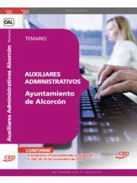 AUXILIARES ADMINISTRATIVOS DEL AYUNTAMIENTO DE ALCORCÓN. TEMARIO