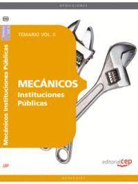 MECÁNICOS INSTITUCIONES PÚBLICAS. TEMARIO VOL. II.