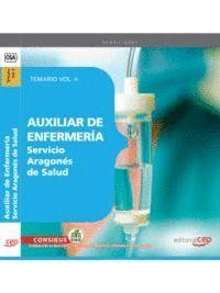 AUXILIAR DE ENFERMERA SERVICIO ARAGONÉS DE SALUD. TEMARIO VOL. II.