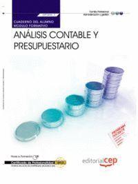 CUADERNO DEL ALUMNO. ANÁLISIS CONTABLE Y PRESUPUESTARIO (MF0498_3). CERTIFICADOS DE PROFESIONALIDAD.