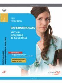 ENFERMERO/A SERVICIO EXTREMEÑO DE SALUD. TEST ESPECÍFICO