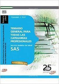 SAS 2014 TEMARIO GENERAL CATEGORIAS PROFESIONALES