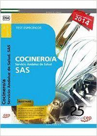 COCINERO/A. SERVICIO ANDALUZ DE SALUD (SAS). TEST ESPECFICOS