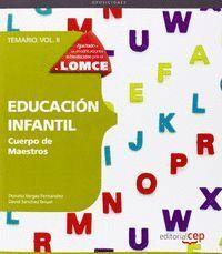 TEMARIO EDUCACIÓN INFANTIL CUERPO DE MAESTROS