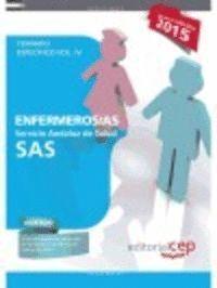 ENFERMEROS /AS TEMARIO ESPECIFICO VOL.IV SAS 2015 SERVICIO ANDALUZ DE SALUD