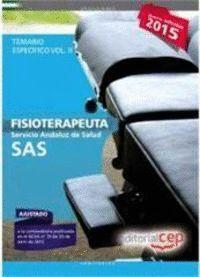 FISIOTERAPEUTA. SERVICIO ANDALUZ DE SALUD (SAS). TEMARIO ESPECÍFICO. VOL.II