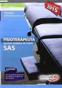 FISIOTERAPEUTA. SERVICIO ANDALUZ DE SALUD (SAS). TEMARIO ESPECÍFICO. VOL.IV