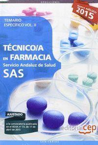 TECNICO EN FARMACIA SAS VOL II SERVICIO ANDALUZ DE SALUD