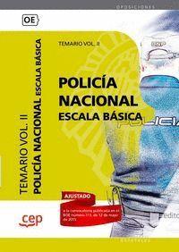 POLICA NACIONAL ESCALA BÁSICA. TEMARIO VOL. II