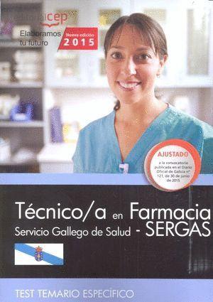 TÉCNICO/A EN FARMACIA. SERVICIO GALLEGO DE SALUD (SERGAS). TEST TEMARIO ESPECÍFICO