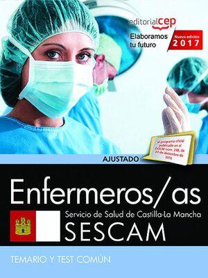 ENFERMEROS/AS. SERVICIO DE SALUD DE CASTILLA - LA MANCHA (SESCAM). TEMARIO Y TEST COMÚN