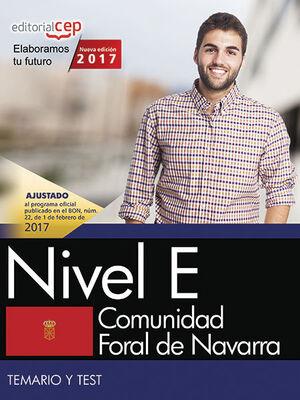COMUNIDAD FORAL DE NAVARRA. NIVEL E. TEMARIO Y TEST