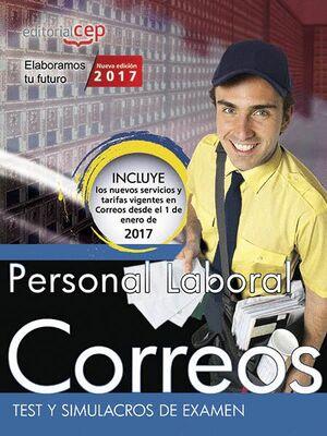 PERSONAL LABORAL. CORREOS. TEST Y SIMULACROS DE EXAMEN