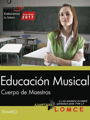 CUERPO DE MAESTROS. EDUCACIÓN MUSICAL. TEMARIO