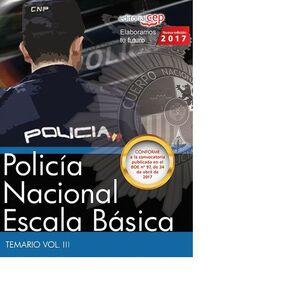 POLICA NACIONAL ESCALA BÁSICA. TEMARIO VOL. III.
