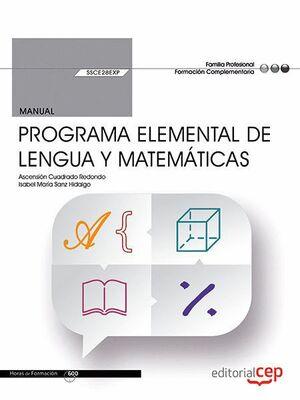 MANUAL PROGRAMA ELEMENTAL DE LENGUA Y MATEMATICAS